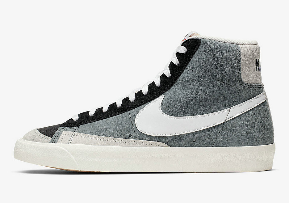 2019 Where To Buy Cheap Nike Blazer Mid 77 Vintage Cool Grey Black Summit White CI1167-001 On VaporMaxRunning