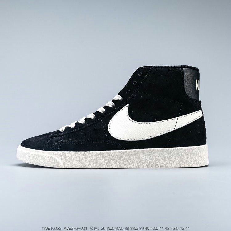 2019 Where To Buy Cheap Nike Blazer Mid Suede Vintage Black White 538282-040 On VaporMaxRunning