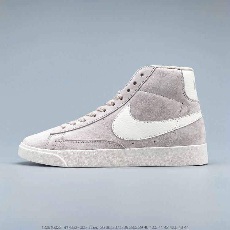 2019 Where To Buy Cheap Nike Blazer Mid Vintage Suede Sneakers Desert Sand Sail 917862-005 On VaporMaxRunning