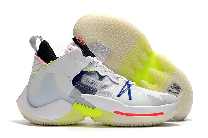 2019 Where To Buy Cheap Nike Jordan Why Not Zer0.2 SE The City Tour White Ghost Aqua Hyper Royal Volt AV4126-100 On VaporMaxRunning