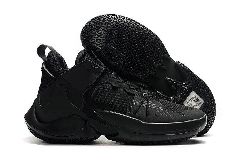 2019 Where To Buy Cheap Nike Jordan Why Not Zero.2 SE Triple Black On VaporMaxRunning