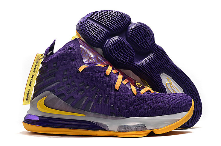 2019 Where To Buy Cheap Nike Lebron 17 Lakers Purple Gold On VaporMaxRunning