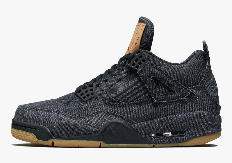 2019 Where To Buy Cheap Nike Levis x Air Jordan 4 Black AO2571-001 On VaporMaxRunning