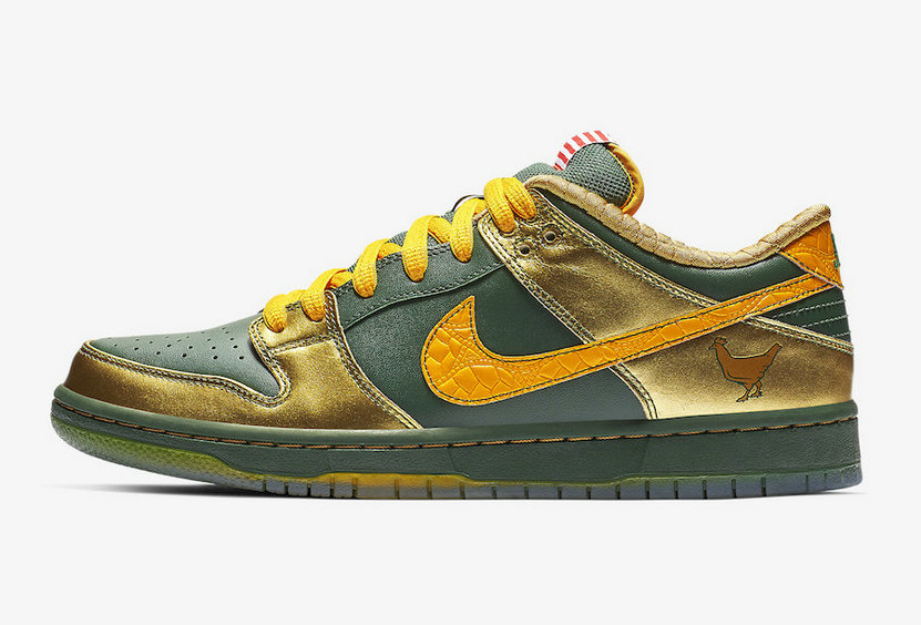 2019 Where To Buy Cheap Nike SB Dunk Pro Low Doernbecher Fir University Gold-Metallic Gold BV8740-377 On VaporMaxRunning