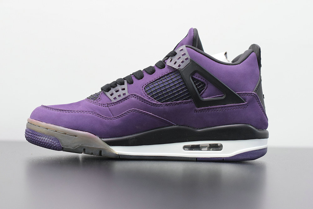 2019 Where To Buy Cheap Nike Travis Scott x Air Jordan 4 Purple Black White 308497-510 On VaporMaxRunning