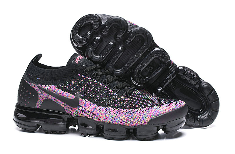 2019 Where To Buy Cheap Nike Vapormax Flyknit 2.0 Black Multi-Color 942842-017 On VaporMaxRunning