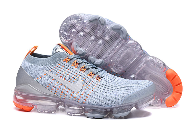 2019 Where To Buy Cheap Nike Vapormax Flyknit 2.0 Moon Landing Grey Silver Orange On VaporMaxRunning