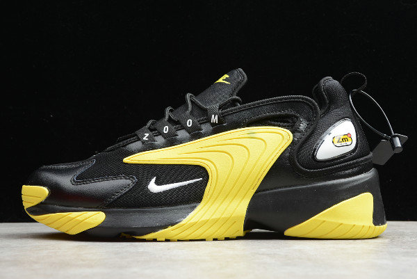 2019 Where To Buy Cheap Nike Zoom 2K 2000 Black White-Dynamic Yellow AO0269-006 On VaporMaxRunning