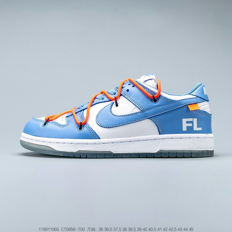 2019 Where To Buy Cheap OFF-WHITE x Futura x Nike Dunk Low Powder Blue CT0856-700 On VaporMaxRunning