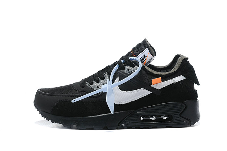 2019 Where To Buy Cheap Off White X Nike Air Max 90 Black Silver AA7293-100 On VaporMaxRunning