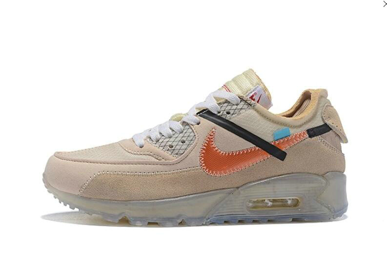 2019 Where To Buy Cheap Off White X Nike Air Max 90 Desert Ore OW AA7293-105 On VaporMaxRunning