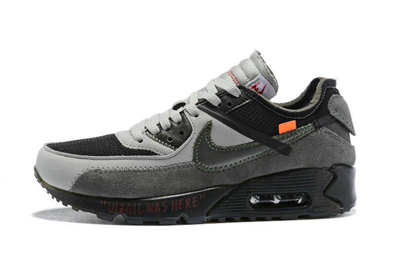 2019 Where To Buy Cheap Off White X Nike Air Max 90 Grey White OW AA7293-005 On VaporMaxRunning