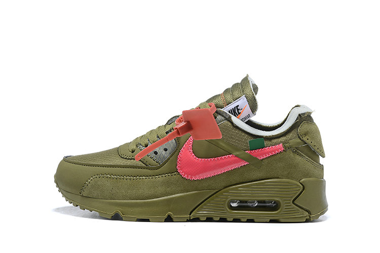 2019 Where To Buy Cheap Off White X Nike Air Max 90 The 10 Army Green OW AA7293-201 On VaporMaxRunning