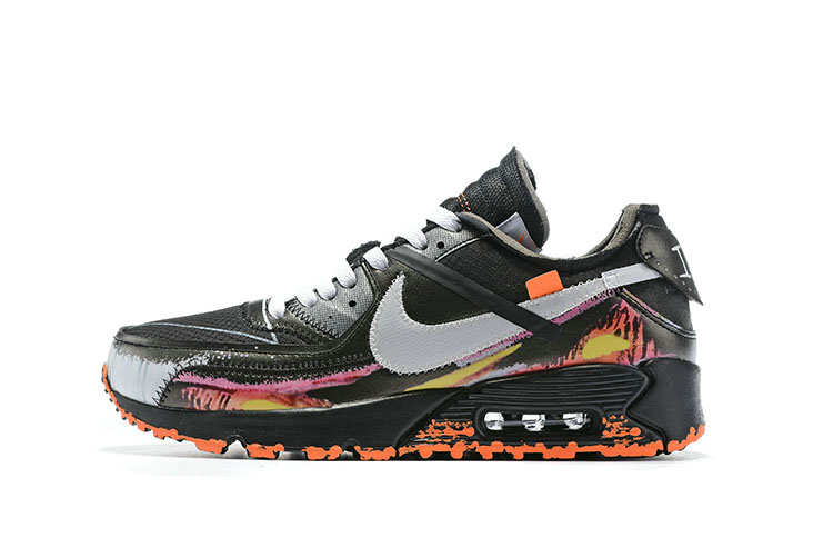 2019 Where To Buy Cheap Off-White x Nike Air Max 90 Flame Black On VaporMaxRunning