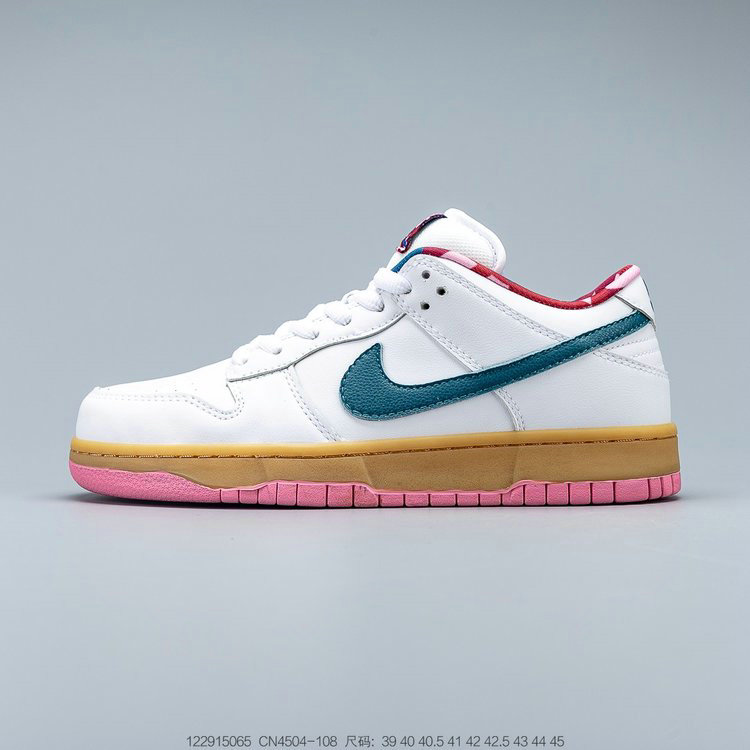 2019 Where To Buy Cheap Parra x Nike SB Dunk Low White Blue-Pink CN4504-108 On VaporMaxRunning