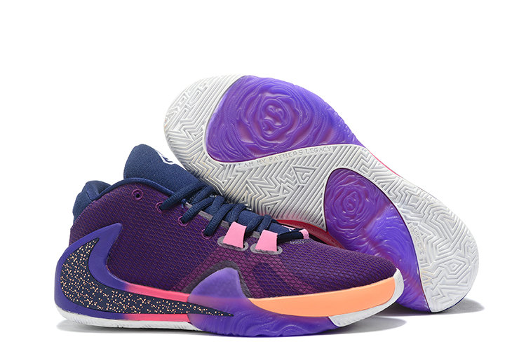 2019 Where To Buy Kids Cheap Nike Zoom Greek Freak 1 Purple Pink-Orange On VaporMaxRunning