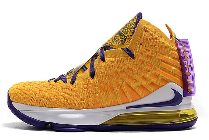 2020 Cheap Mismatched Nike LeBron 17 Lakers Media Day Purple Yellow On VaporMaxRunning