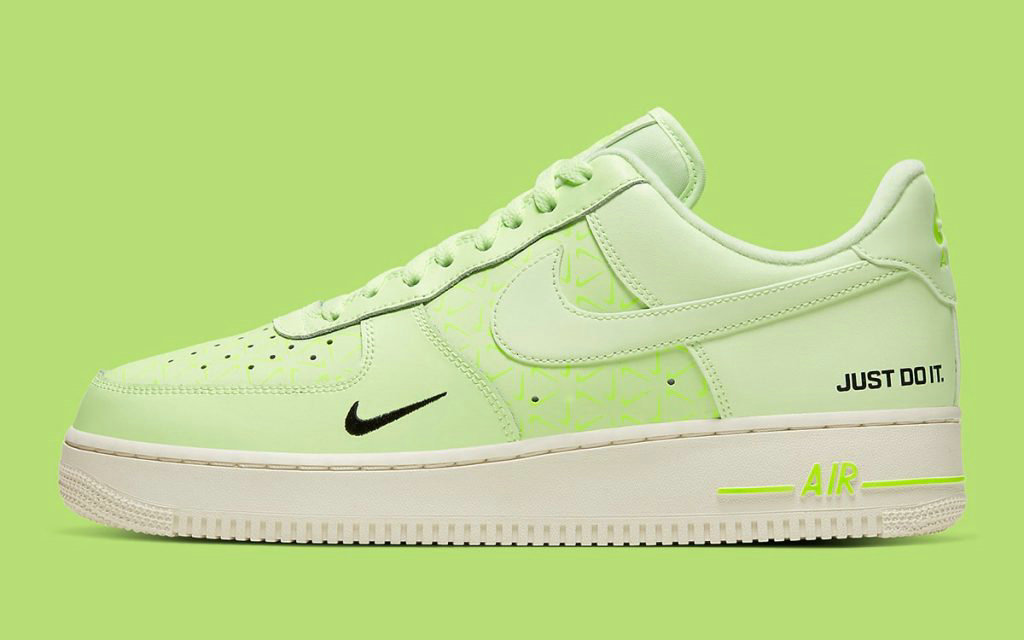 2020 Cheap Nike Air Force 1 Low Just Do It Appears in Vivid Volt CT2541-700 On VaporMaxRunning