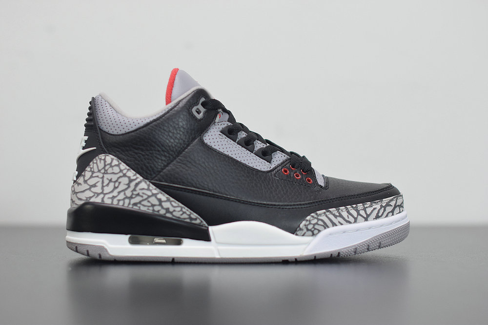 2020 Cheap Nike Air Jordan 3 Black Fire Red-Cement Grey Noir Gris Ciment Rouge Feu 854262-001 On VaporMaxRunning
