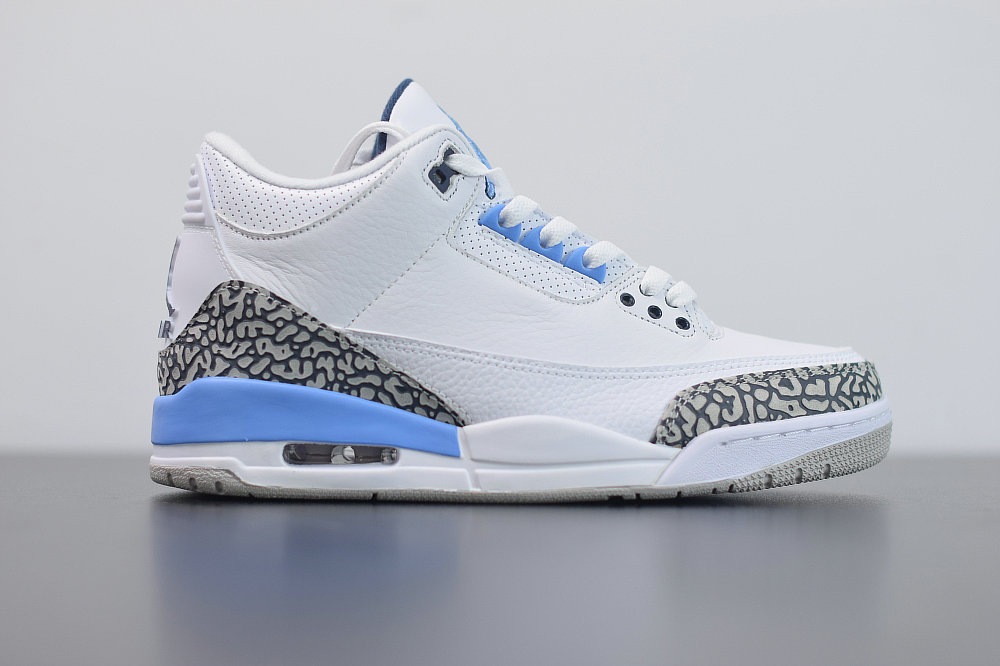 2020 Cheap Nike Air Jordan 3 UNC White Valor Blue-Tech Grey CT8532-104 On VaporMaxRunning