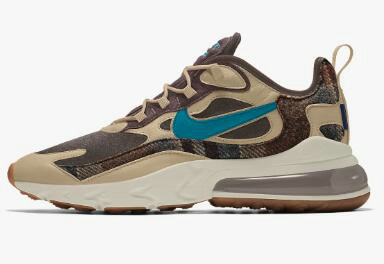 2020 Cheap Nike Air Max 270 React Pendleton By You Custom CQ7386-991 On VaporMaxRunning