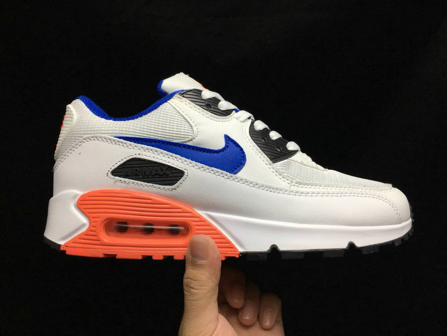 2020 Cheap Nike Air Max 90 Essential White Ultramarine-solar Red-Black 537384-136 On VaporMaxRunning