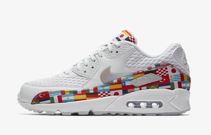 2020 Cheap Nike Air Max 90 NIC QS International Flag White Multi AO5119-100 On VaporMaxRunning