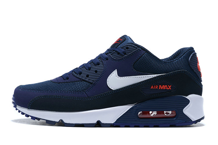 2020 Cheap Nike Air Max 90 Navy Blue White AJ1285-403 Unisex Running Shoes AJ1285-403 On VaporMaxRunning
