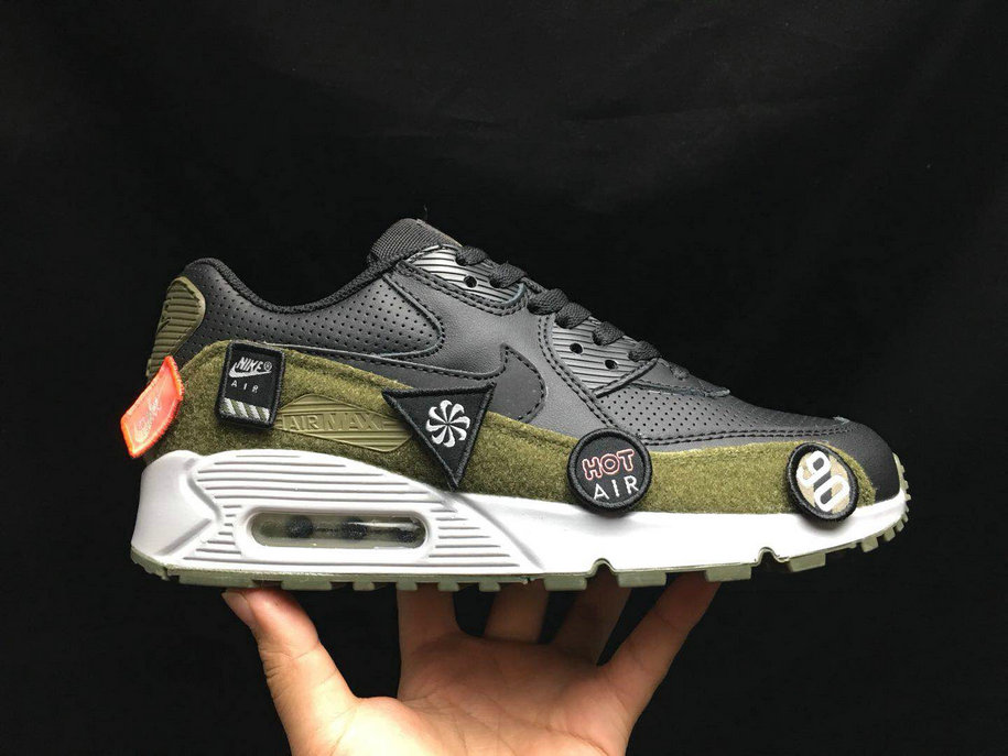 2020 Cheap Nike Air Max 90 Ultra 2. 0 LTR Black Olive Green White AA9974 002 On VaporMaxRunning