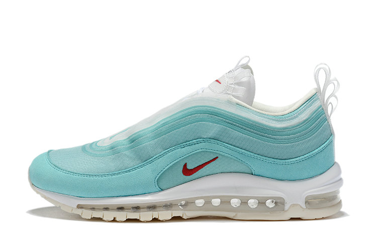 2020 Cheap Nike Air Max 97 Shanghai Kaleidoscope Ice Blue Red-White CI1508-400 On VaporMaxRunning