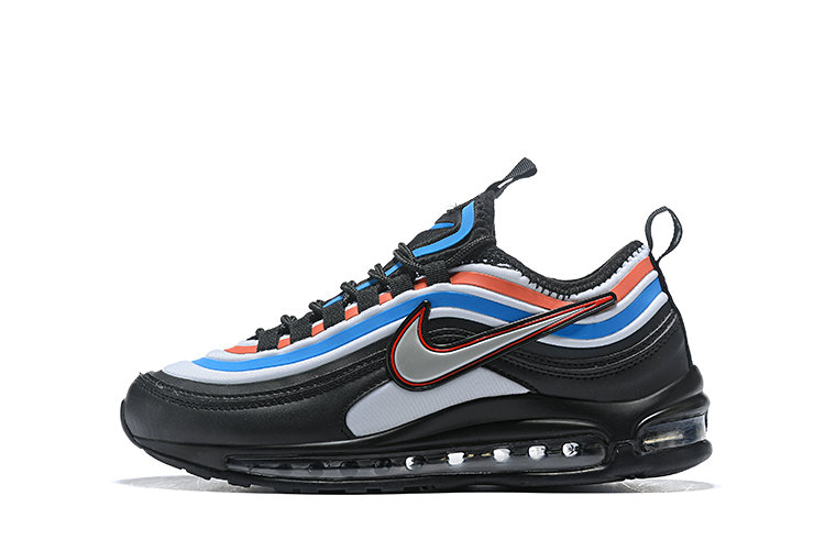 2020 Cheap Nike Air Max 97 Ultra 17 SE Black Blue Orange Silver 924452 019 On VaporMaxRunning