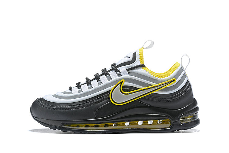2020 Cheap Nike Air Max 97 Ultra 17 SE Black Yellow Grey White 924452 023 On VaporMaxRunning