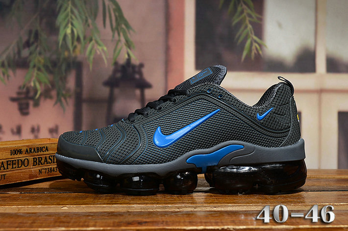 2020 Cheap Nike Air VaporMax Plus Rubber Blue Black On VaporMaxRunning