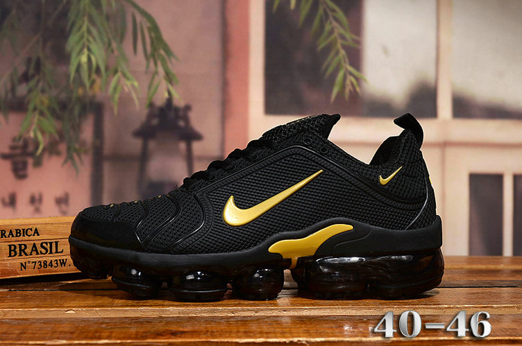 2020 Cheap Nike Air VaporMax Plus Rubber Gold Black On VaporMaxRunning
