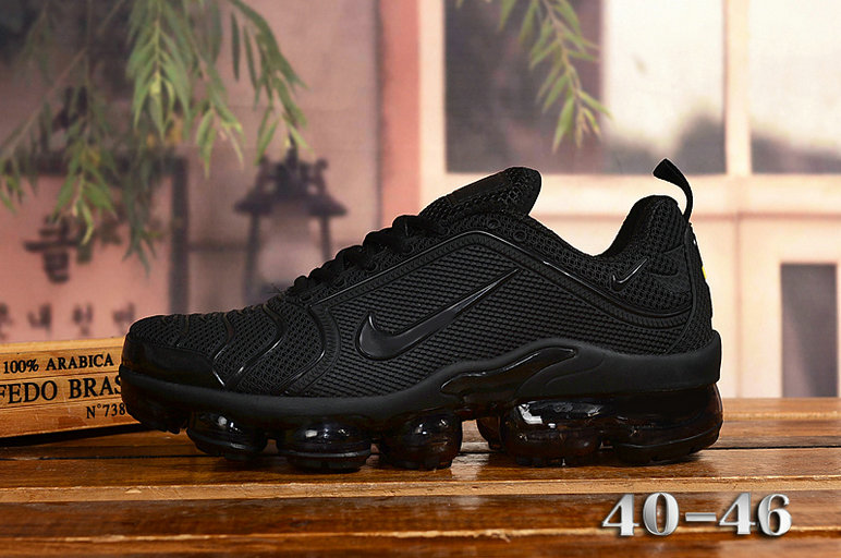2020 Cheap Nike Air VaporMax Plus Rubber Triple Black On VaporMaxRunning