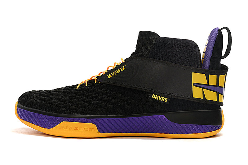 2020 Cheap Nike Air Zoom UNVRS Lakers Black Amarillo-Court Purple On VaporMaxRunning