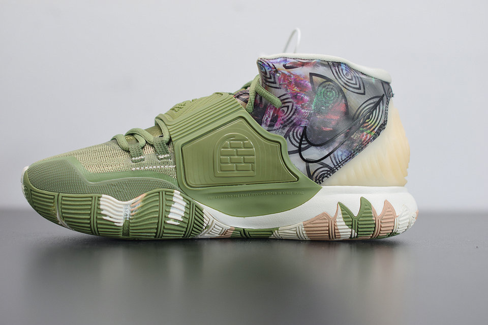 2020 Cheap Nike Kyrie 6 Greey Camo Alligator Multi-Color Couleur Multiple CQ7634-303 On VaporMaxRunning