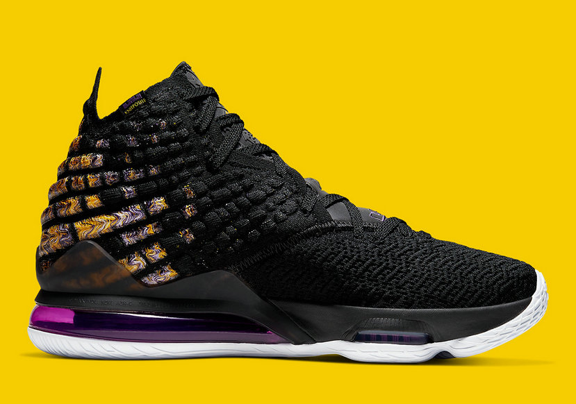 2020 Cheap Nike LeBron 17 Black White-Eggplant-Amarillo BQ3177-004 On VaporMaxRunning