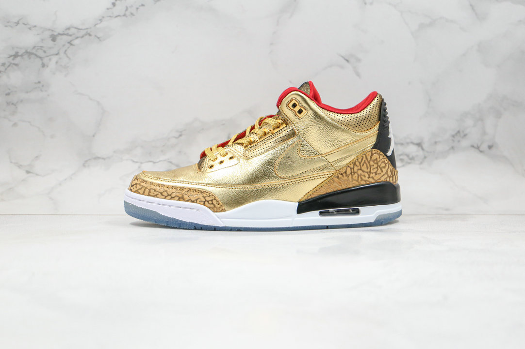 2020 Cheapest Nike Air Jordan 3 Tinker Spike Lee Luxury Gold Color Red SILK AJ3-933512 On VaporMaxRunning
