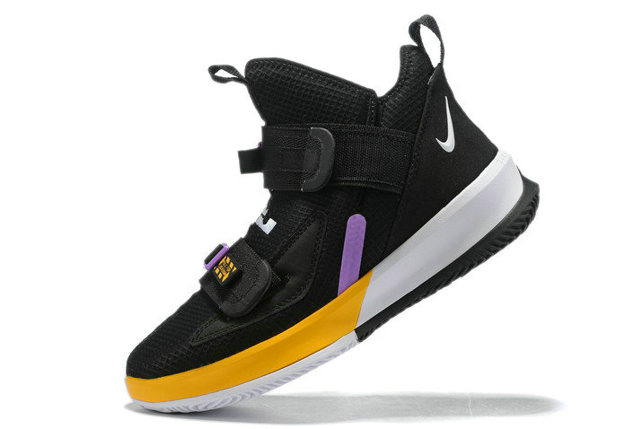Where To Buy 2020 Nike LeBron Soldier 13 Lakers Black Purple-Gold-White For Sale On VaporMaxRunning