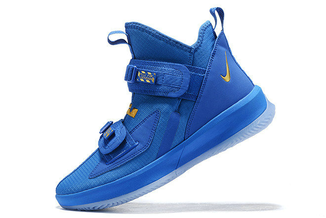Where To Buy 2020 Nike LeBron Soldier 13 Royal Blue Metallic Gold For Sale On VaporMaxRunning