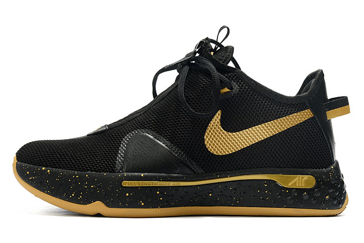 Where To Buy 2020 Nike PG 4 Black Metallic Gold For Sale On VaporMaxRunning