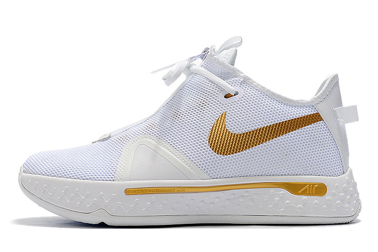 Where To Buy 2020 Nike PG 4 White Metallic Gold For Sale On VaporMaxRunning