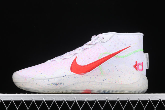 Where To Buy 2020 Nike Zoom KD 12 EP White Multi Color-Red AR4230-118 On VaporMaxRunning