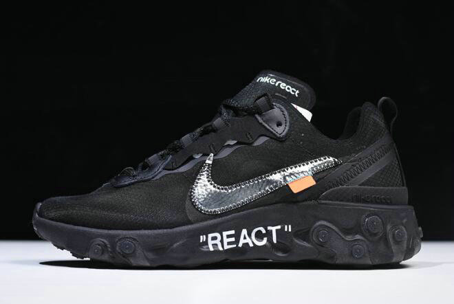 Where To Buy 2020 Off-White x Nike React Element 87 Black AQ0068-001 For Sale On VaporMaxRunning