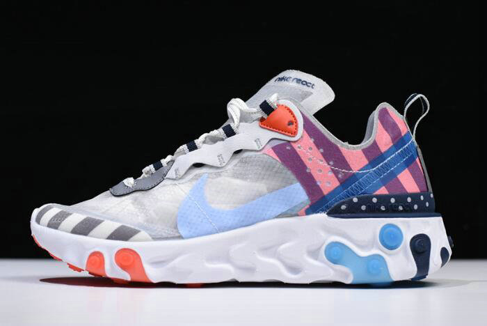 Where To Buy 2020 Parra x Nike React Element 87 White Multi-Color AQ3057-100 On VaporMaxRunning