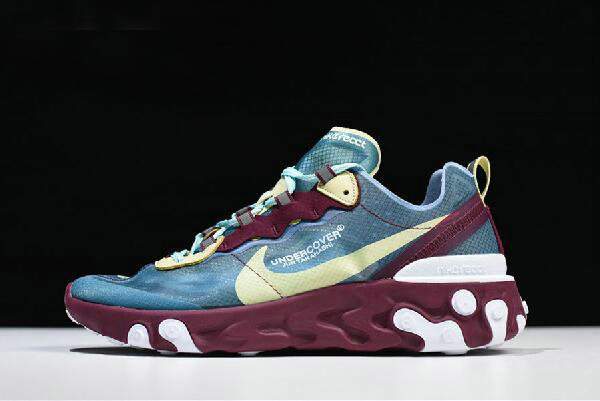 Where To Buy 2020 Undercover x Nike React Element 87 Blue Gold Purple White AQ1813-001 Free Shipping On VaporMaxRunning