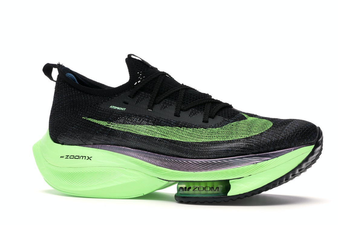 2020 Womens Cheap Nike Air Zoom Alphafly Next Black Electric Green CI9925-400 On VaporMaxRunning