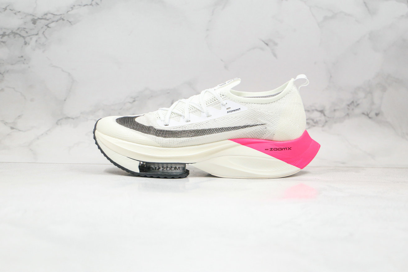 2020 Womens Cheapest Nike Air Zoom Alphafly NEXT White Black Pink CI9925-600 On VaporMaxRunning