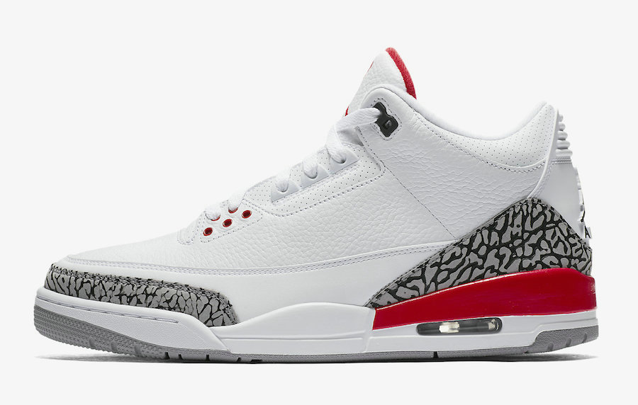 2021 Cheap Nike Air Jordan 3 Katrina White Cement Grey Black-Fire Red 136064-116 On VaporMaxRunning